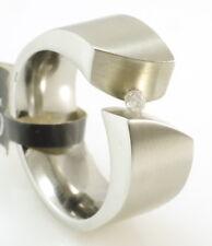 ernstes Design Ring Edelstahl brillant Gr 56 brilliant TW SI 0 065 Ct