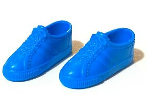 Vintage 1980's Barbie Ken Fashion Doll Bright Blue Striped Sneakers Tennis Shoes