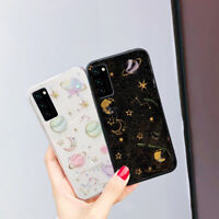 For Samsung S20 Ultra Note 10 Plus S10/9 Bling Star Clear Rubber Soft Case Cover