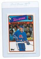MICHEL GOULET 1988 TOPPS NORDIQUES NHL Hockey Sticker Trading CARD #7 Blackhawks