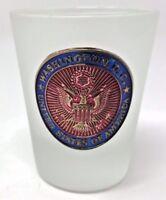 Beautiful Washington DC United States of America Frosted Shot Glass - LN!