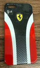 Iphone 5 & 5s Hard Shell Case by Ferrari -Red/black Authentic and Licensed Case