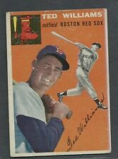 1954 Topps #1 Ted Williams Red Sox VGEX