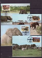 Uganda 1983 - Maxicard - Dieren / Animals (Elephants) WWF/WNF