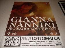"GIANNA NANNINI - LOCANDINA POSTER TOUR "" GIANNADREAM "" 33 x 48"