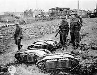 WW2 Photo British Soldiers w Goliath Remote Bombs  WWII World War Two Germany