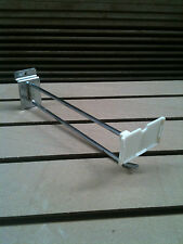 BULK BUY WHOLESALE Slatwall HD 250mm Hooks with FIXED tag  6mm dia (box of 50)