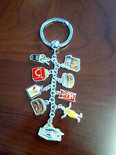McDonalds Keychain   Sterling Silver Key Chain with Milestone Charms