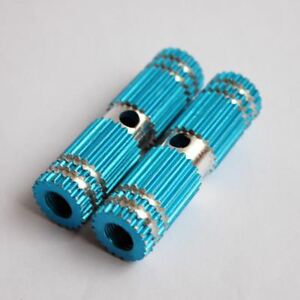 """2.67"""" Blue Small Gear Style Profile Bike Foot Pegs For Children (2 Per Order)"""