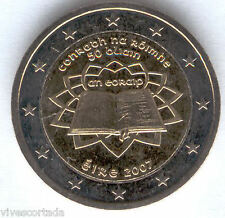 Nouvelle design 2 Euros Irlande 2007 @ Traité de Rome @
