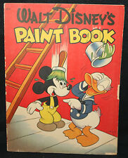 Walt Disney's Paint Book #677 by Whitman - Red - Uncolored (Fn) 1944