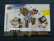 2017-18 17/18 Upper Deck UD Game Dated Moments 2 Las Vegas Golden Knights