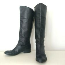 COACH ladies genuine leather black tall boots 9.5 40