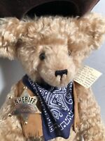 Sheriff Cowboy Justin Mohair Teddy Bear Artist Bettina F Groh German Glass Eyes