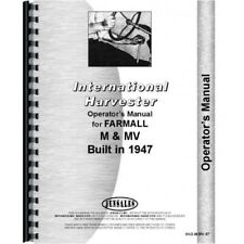 IH International Farmall 1947 M MV Tractor Owners Operators Manual