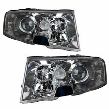 Skoda Superb Mk1 2002-2008 Headlights Headlamps 1 Pair O/S And N/S