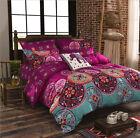 Oriental Mandala Bed Pillowcase Quilt Duvet Cover Set Single Queen King Size