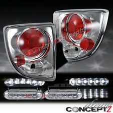 2000-2005 Toyota Celica GT GTS Tail lights chrome style w. Front LED DRL lights