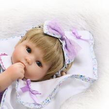 16'' Handmde Bebe Soft Reborn Baby Girl Dolls Realistic Vinyl Newborn Xmas Gifts