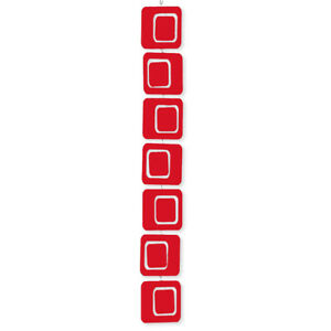 Hot Red Coolsville Vertical Hanging Art Mobile - 3 Sizes Mid Century Modern MCM