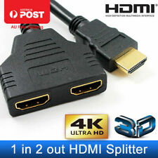 2 Port HDMI Splitter 1 in 2 Out HDMI Male to Female Adapter Converter Switch PC