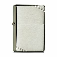 Zippo 230 Vintage w/Slashes Brushed Chrome 041689112202