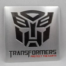 Car Emblem Aluminum Transformers Autobot Protect Trunk Side Badge   8cm