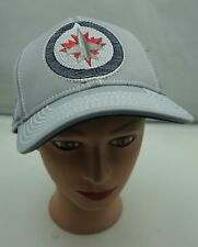 Winnipeg Jets Hat Gray Stitched Fitted Small Medium Baseball Cap Pre-Owned ST230