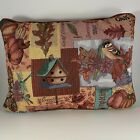 Fall Tapestry Throw Pillow Riverdale Harvest Happenings