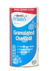 Hatchwells Dentifresh Granulated Charcoal Powder 150g Pet Flatulence Digestion