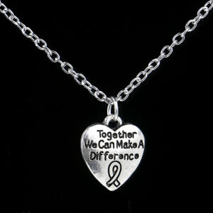 Love Heart Words Silver Round Pendant Necklace 46 Gift Box Included