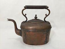 """Antique Christopher Dresser RD 130171 Modern Design Copper Tea Kettle, 8"""" Tall"""