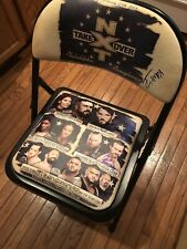SIGNED WWE NXT TakeOver Philadelphia Ringside Chair CHAMPA GARGANO COLE