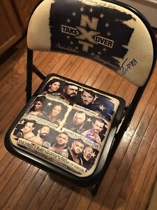 SIGNED WWE NXT TakeOver Philadelphia Chair Gargano Champa Cole