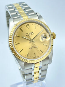 Tudor Prince Date 74033 Two Tone Gold Champagne Dial 34mm Automatic 2021