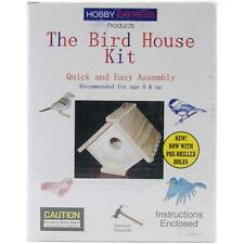 BIRD HOUSE KIT Wood Craft Kit Easy Assembly Kids Crafts Age 8+ Pinepro 60002 NEW