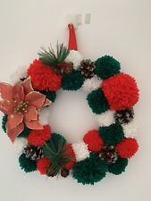 Christmas Indoor Pom Pom Wreath