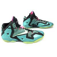 Nike Mens LeBron XI 11 South Beach Basketball Shoes 616175-330 SIZE 14, EU 48.5