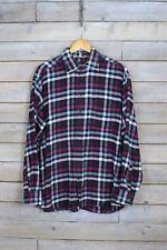 Vintage Negro y Rosa Camisa a cuadros (L)