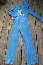 BABY PHAT girls L large tracksuit velour track suit jacket hoodie pants outfit