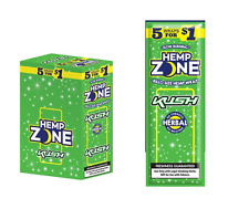 1x Pack ( Hemp Zone Kush Flavor ) 5x Wraps Per Pack Wrap HempZone