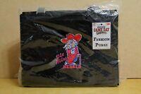 NEW Ole Miss Rebels Mississippi TOTE Black Red Hand Bag Purse College Logo SEC