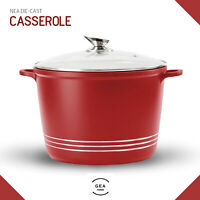 28cm Non Stick Induction Stockpot Casserole Oven Dish Deep Cooking Pot with Lid