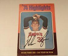 "1975 Topps #5 Nolan Ryan '74 Highlights ""Ryan Fans 300 3rd Year in Row"" (NM-OC)"