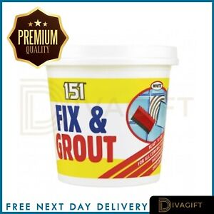 Waterproof Tile Adhesive Bond It Fix And Grout Ready Mixed Grout White 500g