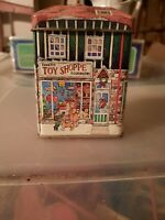 VINTAGE TIN ORNAMENT Metal box Nickis Toy store  Collectible