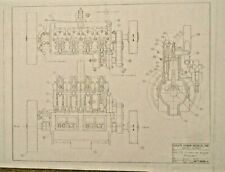 "Cole's Power Models "" Holt 75 1915 Caterpillar tractor engine"" drawing set"
