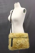 NWT$1995 Brunello Cucinelli 100% Fur 3In1 Bag W/Leather Logo Straps &Monili A181