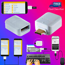Micro USB Male Host To USB Female OTG Adapter Samsung For Android Mobile Tablet