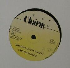 """Cynthia Schloss(12""""Vinyl)This Song Is Just For You-~-CRT 22-Char"""